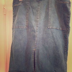 Jean skirt by Who What Wear